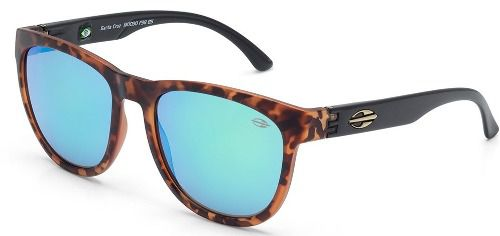Oculos Solar Mormaii Santa Cruz M0030f3885 - MARROM TARTARUGA - LENTE VERDE FLASH