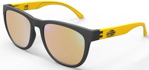 Oculos Solar Mormaii Santa Cruz M0030a8396 - PRETO/AMARELO - LENTE DOURADO FLASH