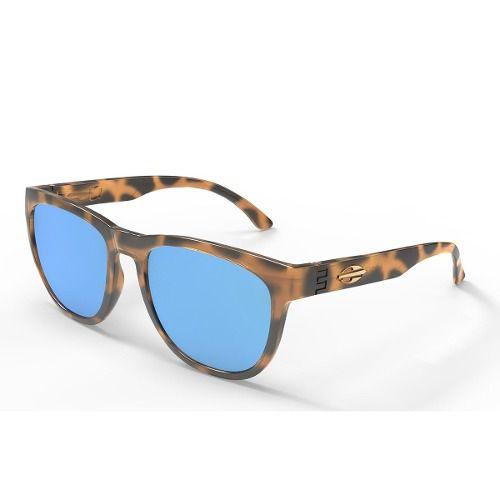 Oculos Solar Mormaii Santa Cruz M0030f2197 - MARRON TARTARUGA - LENTE AZUL FLASH