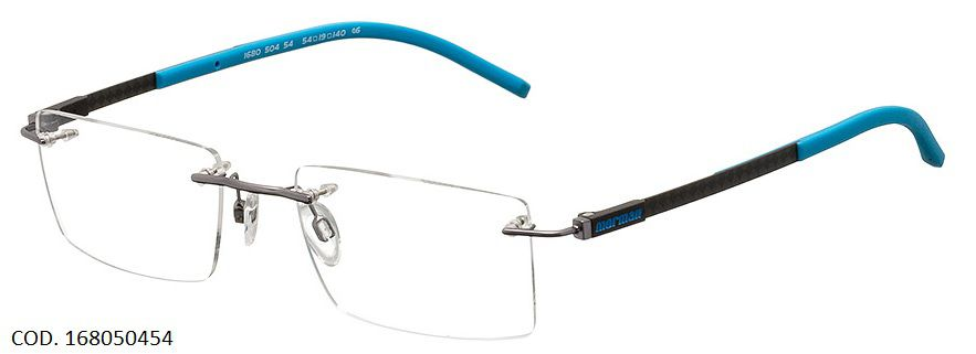 Armação Mormaii Mo1680 Fibra De Carbono Titanio 168050454 Preta Azul