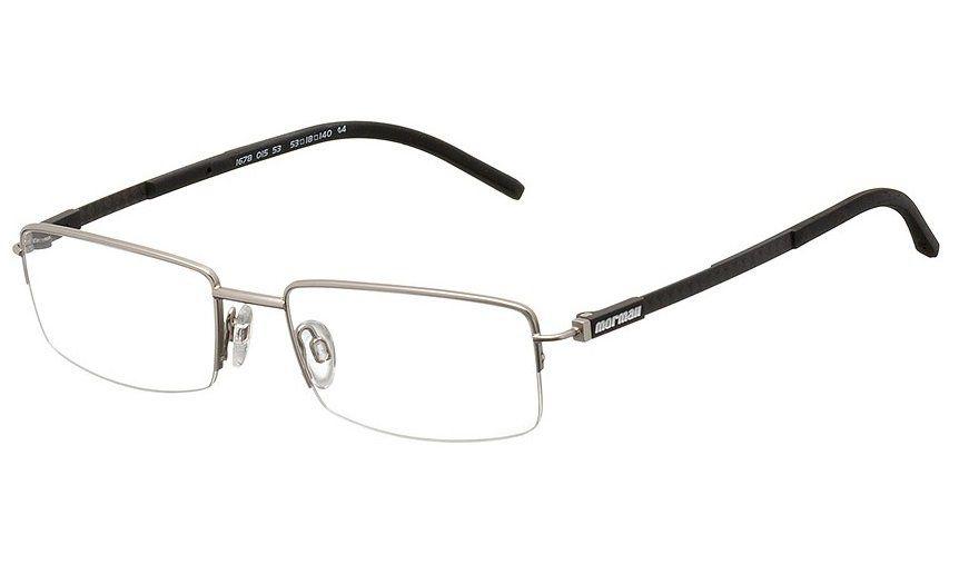 Armação Oculos de Grau Momaii Mo1678 Fibra Carbono Titanio 167801553 - PRATA COM HASTES EM PRETO EM PRETO
