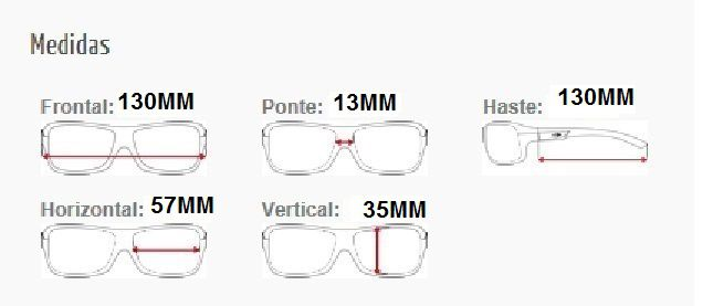 Armação Oculos de Grau Mormaii Artico 1  M6008F2657 Preto Ambar