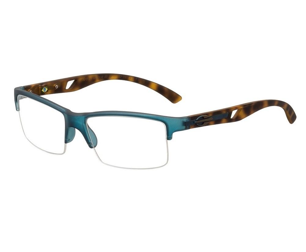 Armação Oculos de Grau Mormaii Artico 1  M6008I1257 - AZUL COM HASTES MARROM TARTARUGA