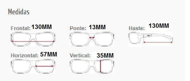 Armação Oculos de Grau Mormaii Atlantico M6007A0257 Preto