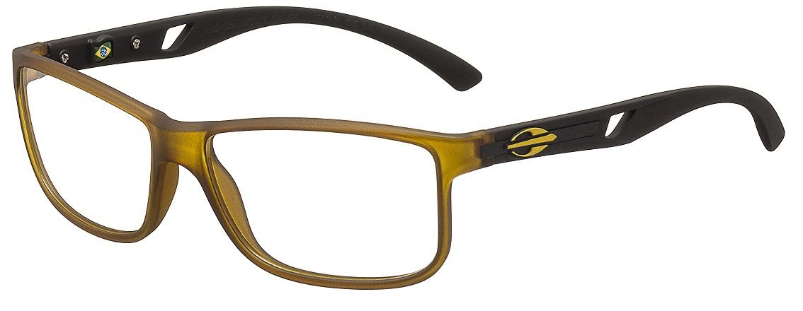 b36a480ed Armação Oculos de Grau Mormaii Atlantico M6007J0657 - AMARELO COM HASTES EM  PRETO
