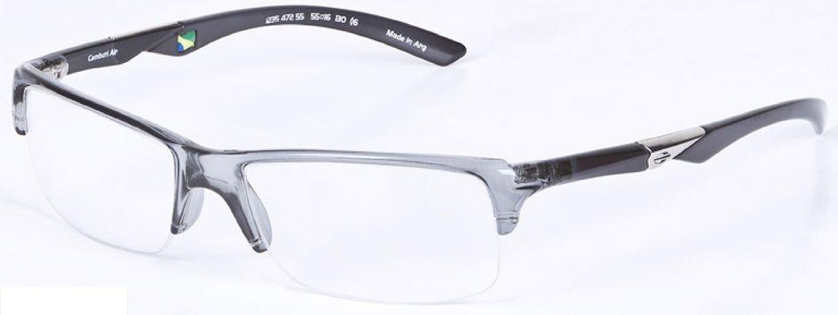 Armação Oculos De Grau Mormaii Camburi Air Cod. 123547255 PRETO TRANSLUCIDO