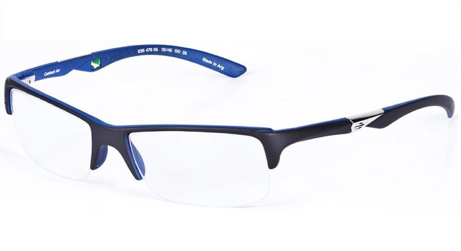 Armação Oculos De Grau Mormaii Camburi Air Cod. 123547855 - PRETO-AZUL FOSCO