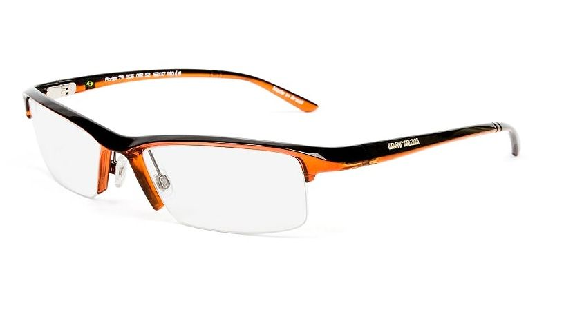 Armação Oculos de Grau Mormaii Floripa 79 130508252 Laranja Preto ... c0079cb40b