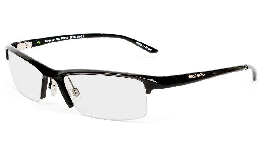 Armação Oculos de Grau Mormaii Floripa 79 Cod. 130521052 Preto