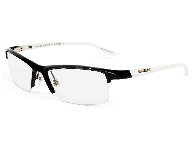 Armação Oculos de Grau Mormaii Floripa 97 Cod. 130608452 Preto Branco