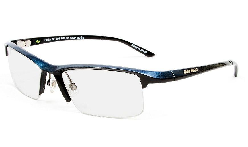 a0824db0c3d93 Armação Oculos de Grau Mormaii Floripa 97 Cod. 130608552 Azul - Loja ...