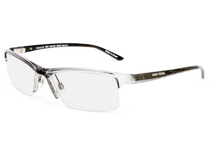 Armação Oculos de Grau Mormaii Floripa 97 Cod. 130694252 Preto Prata