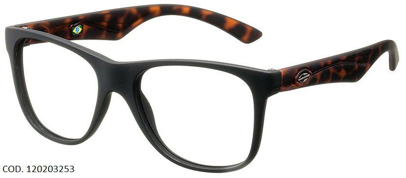 Armação Oculos de Grau Mormaii Lances Cod. 120203253 Preto Marrom
