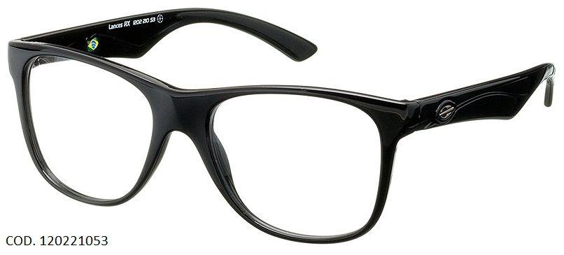 Armação Oculos de Grau Mormaii Lances Cod. 120221053 Preto Brilhoso