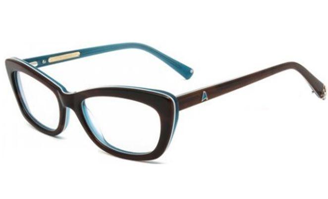 Armação Óculos Grau Absurda Punta 2 258260351 Marrom e Azul