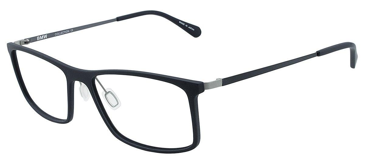 Armação Oculos Grau Bmw B6019 90 Preto Fosco