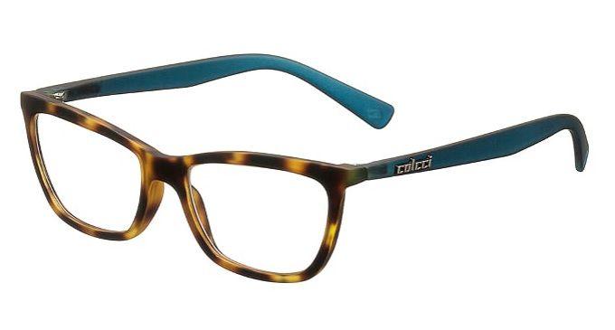 Armação Oculos Grau Colcci Scarlett C6039F5752 - MARROM TARTARUGA COM HASTES EM AZUL