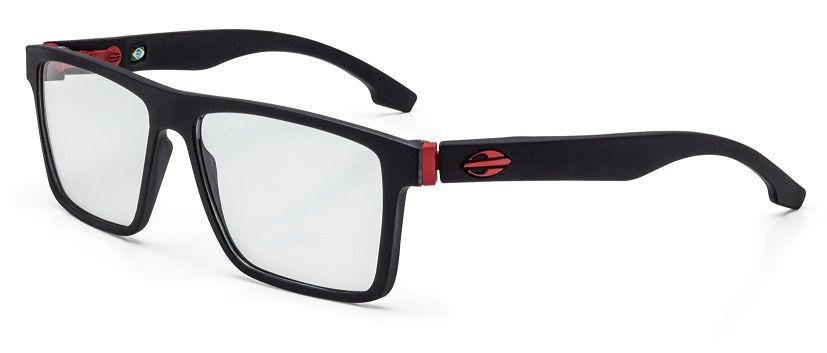 6af8a9cc5a655 Armação Oculos Grau Mormaii Banks M6046A9555 - PRETO COM DETALHES EM  VERMELHO