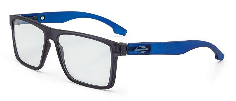 Armação Oculos Grau Mormaii Banks M6046D6055 - PRETO  COM HASTES EM AZUL