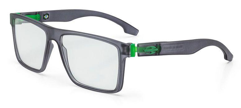 Armação Oculos Grau Mormaii Banks M6046D6355 - PRETO COM DETALHES EM VERDE