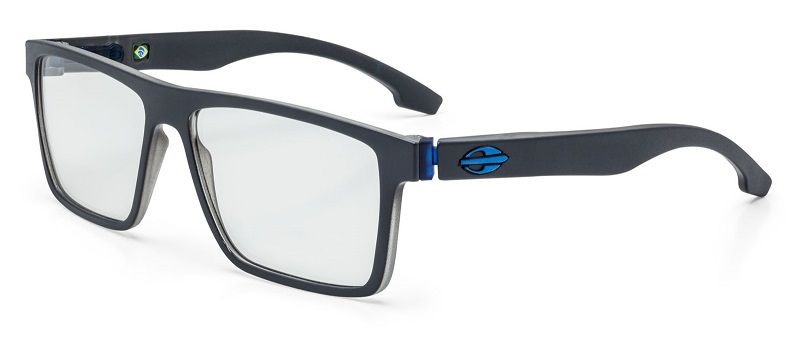 Armação Oculos Grau Mormaii Banks M6046D6455 Cinza Azul