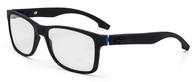 Armação Oculos Grau Mormaii Califa M6047A4156 Preto Fosco Azul