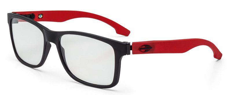 Armação Oculos Grau Mormaii Califa M6047A8556 Preto Fosco Vermelho