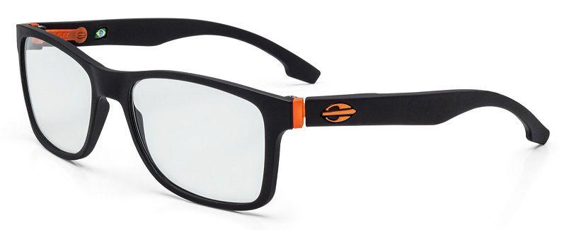 Armação Oculos Grau Mormaii Califa M6047A9656 Preto Fosco Laranja