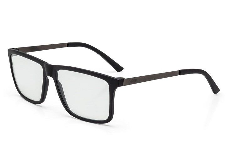 Armação Oculos Grau Mormaii Khapa M6045A1656 - PRETO COM HASTES EM METAL