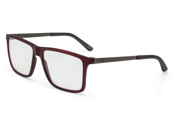 94f49c0fb526c Armação Oculos Grau Mormaii Khapa M6045C3856 VERMELHO ESCURO COM HASTES EM  METAL