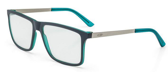Armação Oculos Grau Mormaii Khapa M6045D6256 - PRETO VERDE COM HASTES EM METAL