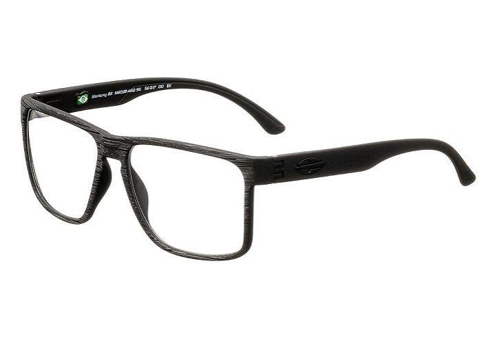 Armação Oculos Grau Mormaii Monterey RX M6039A6056 Preto Fosco Escovado