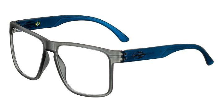 Armação Oculos Grau Mormaii Monterey RX M6039D5756 Fume Fosco Azul