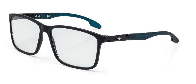 Armação Oculos Grau Mormaii Prana M6044A6755 Preto Fosco Verde