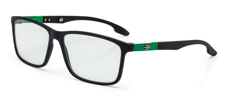 Armação Oculos Grau Mormaii Prana M6044A8655 Preto Fosco Verde
