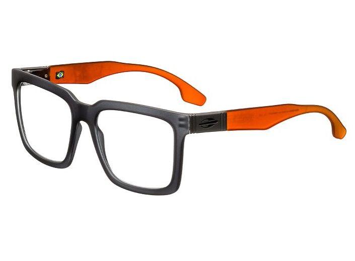 Armação Oculos Grau Mormaii Sacramento Rx M6041D5653 - CINZA COM HASTES EM  LARANJA 4630040b80