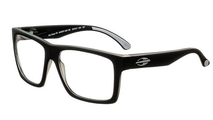 Armação Oculos Grau Mormaii San Diego RX M6037A8755 Preto Fosco