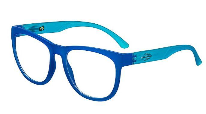 Armação Oculos Grau Mormaii Santa Cruz RX M6040K2655 Azul Translucido
