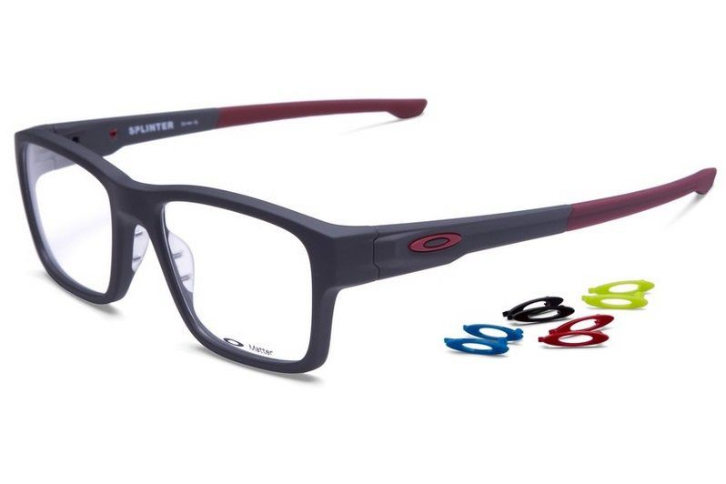 aed4bd7751ea0 ARMAÇÃO OCULOS GRAU OAKLEY SPLINTER OX8077 0654 SOFT TOUCH PAVEMENT ...