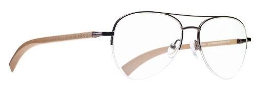 Armação Para Grau Evoke Wood 2 Brown Dark Laser Aviador