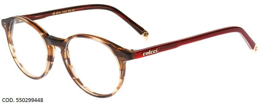 Armação Para Oculos De Grau Colcci 5502 550299448 Marrom