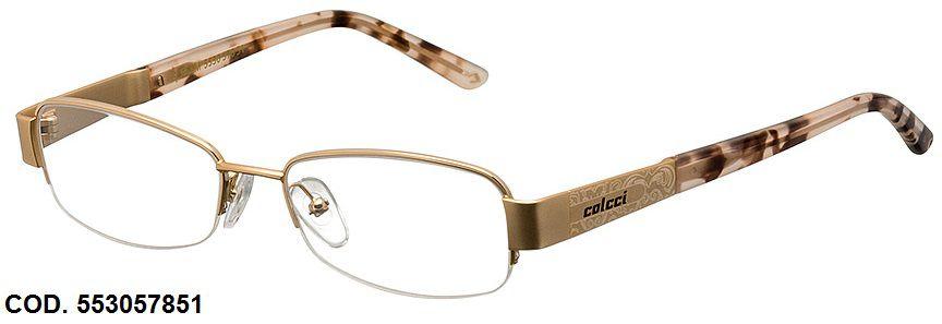 Armação Para Oculos De Grau Colcci 5530 Cod. 553057851 Dourado Creme