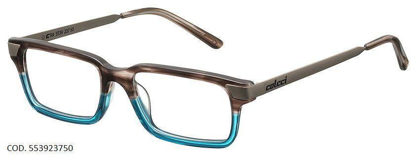 Armação Para Oculos De Grau Colcci 5539 Cod. 553923750 Marrom Azul