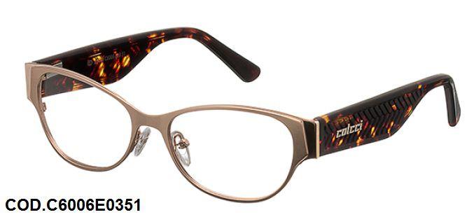 Armação Para Oculos De Grau Colcci C6006 Cod. C6006E0351 Dourado Turtle