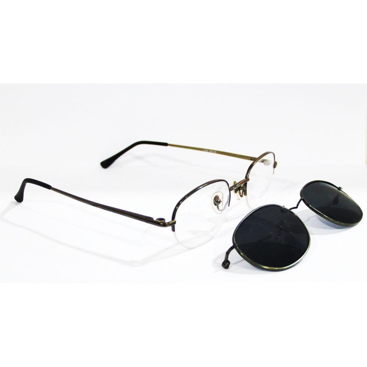 Armação Para Oculos de Grau Com Clip On 1324 - Loja Solare. Óculos ... 7c7231452d