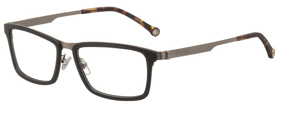 d53d6cf135eee Armação Para Oculos de Grau Forum F6013G0354 Preto Marrom - Loja ...