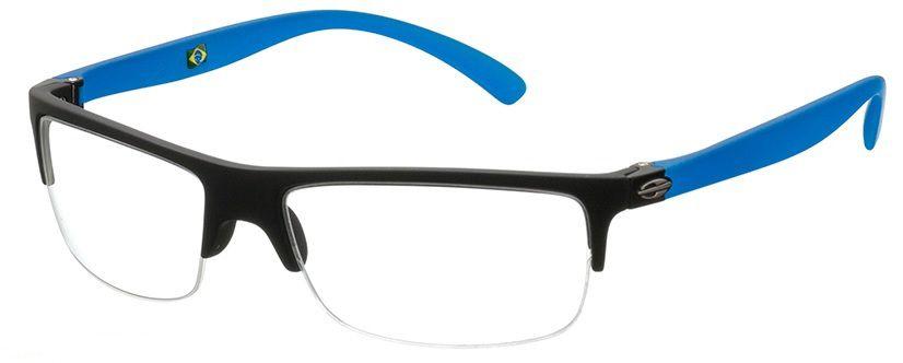 Armação Para Oculos De Grau Mormaii Eclipse Cod. 111386654 Preto Azul