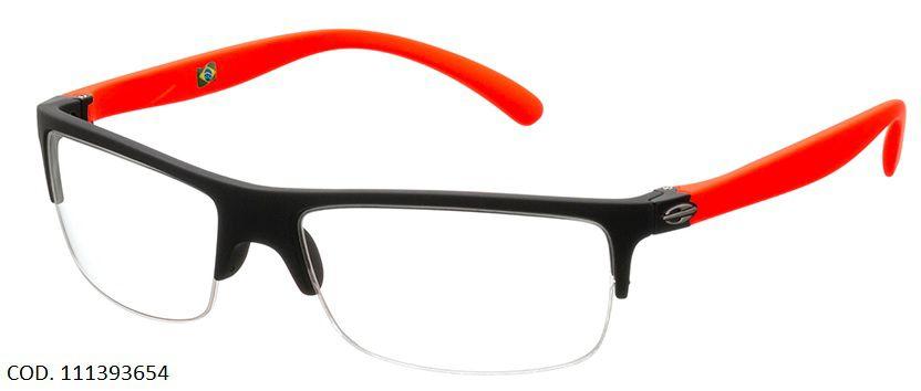 Armação Para Oculos De Grau Mormaii Eclipse Cod. 111393654 Preto Vermelho