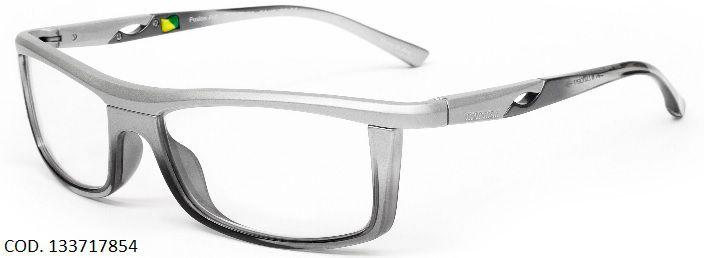 c2079b1fffa35 Armação Para Oculos de Grau Mormaii Fusion Full Cod. 133717854 Prata Com  Fume