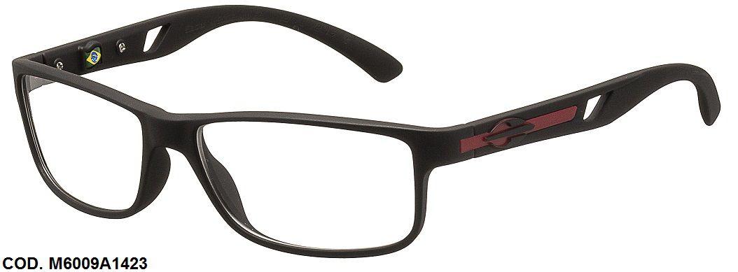 Armação Para Oculos De Grau Mormaii Glacial Cod. M6009A1453 Preto Fosco